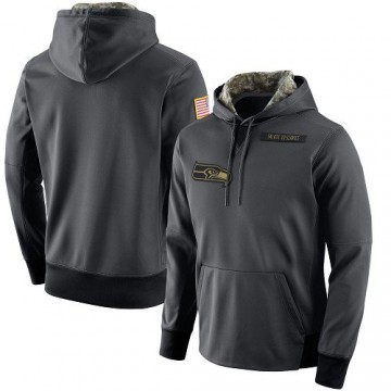 Men's Nike Seattle Seahawks Anthracite Salute to Service Player Performance Hoodie -