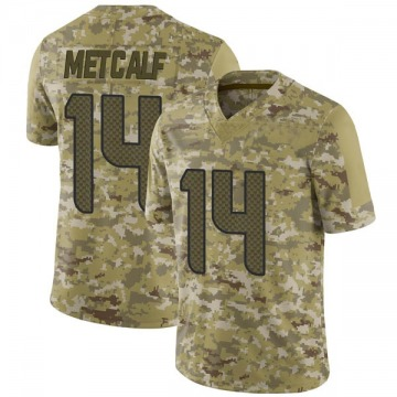 Men's Seattle Seahawks DK Metcalf Camo 2018 Salute to Service Jersey - Limited