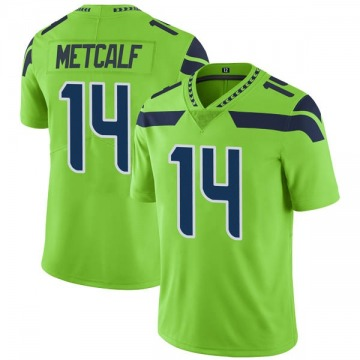 Men's Seattle Seahawks DK Metcalf Green Color Rush Neon Jersey - Limited