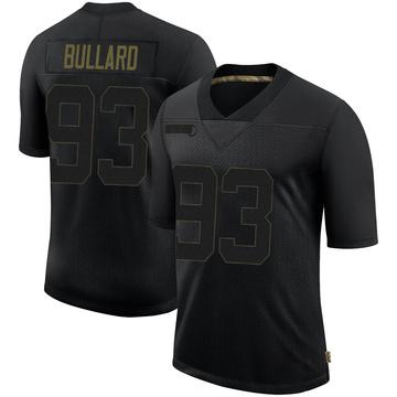 Men's Nike Seattle Seahawks Jonathan Bullard Black 2020 Salute To Service Jersey - Limited