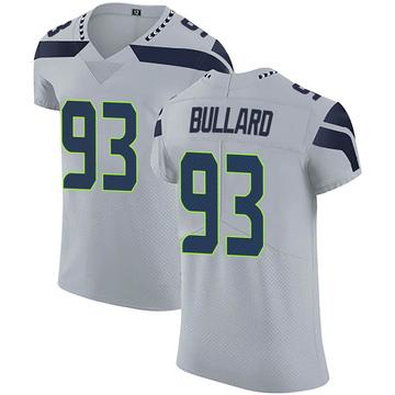 Men's Seattle Seahawks Jonathan Bullard Gray Alternate Vapor Untouchable Jersey - Elite
