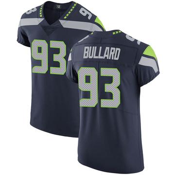 Men's Seattle Seahawks Jonathan Bullard Navy Team Color Vapor Untouchable Jersey - Elite
