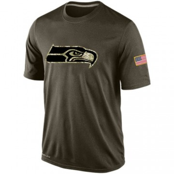 Men's Nike Seattle Seahawks Olive Salute To Service KO Performance Dri-FIT T-Shirt -