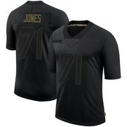 Men's Nike Seattle Seahawks Walter Jones Black 2020 Salute To Service Jersey - Limited