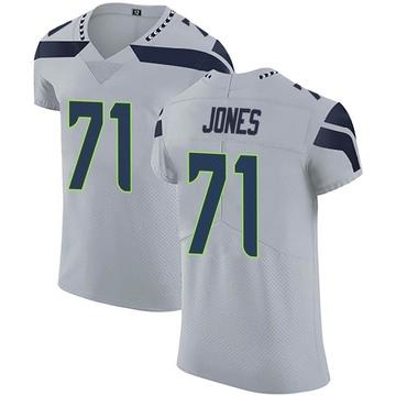 Men's Seattle Seahawks Walter Jones Gray Alternate Vapor Untouchable Jersey - Elite