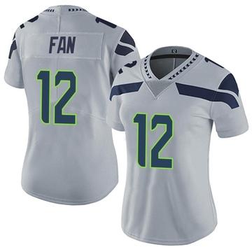 Women's Nike Seattle Seahawks 12th Fan Gray Alternate Vapor Untouchable Jersey - Limited