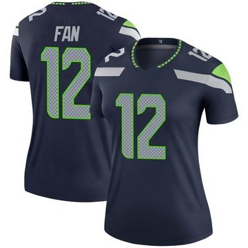 Women's Nike Seattle Seahawks 12th Fan Navy Jersey - Legend