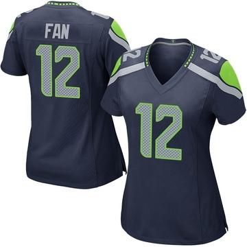 Women's Nike Seattle Seahawks 12th Fan Navy Team Color Jersey - Game