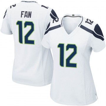 Women's Nike Seattle Seahawks 12th Fan White Jersey - Game