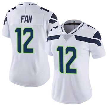 Women's Nike Seattle Seahawks 12th Fan White Vapor Untouchable Jersey - Limited