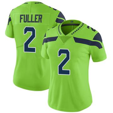 Women's Nike Seattle Seahawks Aaron Fuller Green Color Rush Neon Jersey - Limited