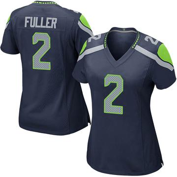 Women's Nike Seattle Seahawks Aaron Fuller Navy Team Color Jersey - Game