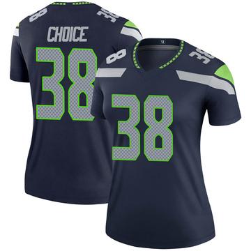 Women's Nike Seattle Seahawks Adam Choice Navy Jersey - Legend