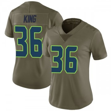Women's Nike Seattle Seahawks Akeem King Green 2017 Salute to Service Jersey - Limited
