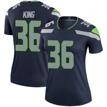 Women's Nike Seattle Seahawks Akeem King Navy Jersey - Legend