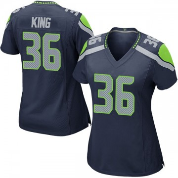 Women's Nike Seattle Seahawks Akeem King Navy Team Color Jersey - Game