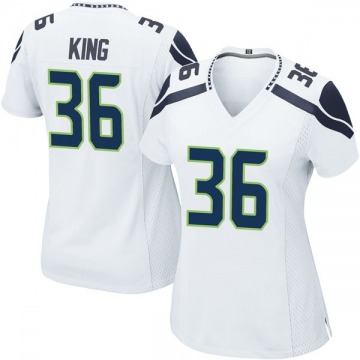 Women's Nike Seattle Seahawks Akeem King White Jersey - Game