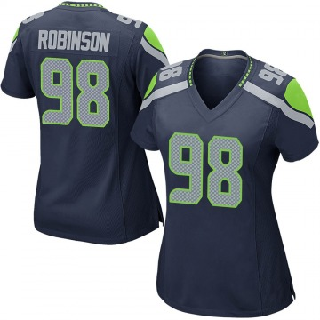 Women's Nike Seattle Seahawks Alton Robinson Navy Team Color Jersey - Game