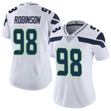 Women's Nike Seattle Seahawks Alton Robinson White Vapor Untouchable Jersey - Limited