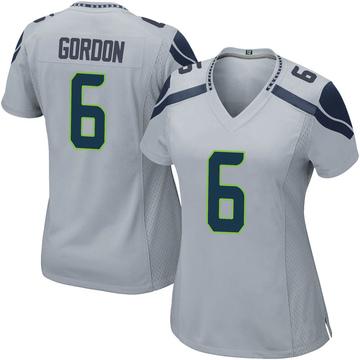 Women's Nike Seattle Seahawks Anthony Gordon Gray Alternate Jersey - Game