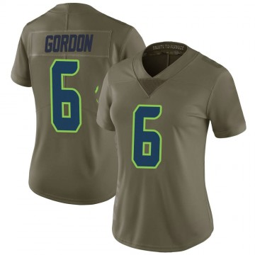 Women's Nike Seattle Seahawks Anthony Gordon Green 2017 Salute to Service Jersey - Limited