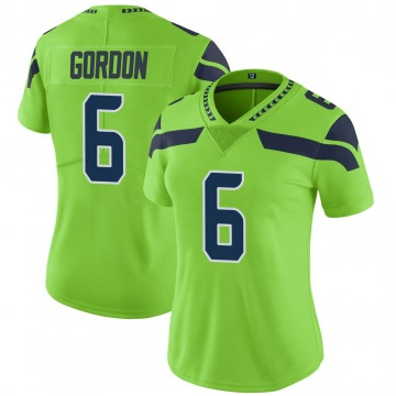 Women's Nike Seattle Seahawks Anthony Gordon Green Color Rush Neon Jersey - Limited