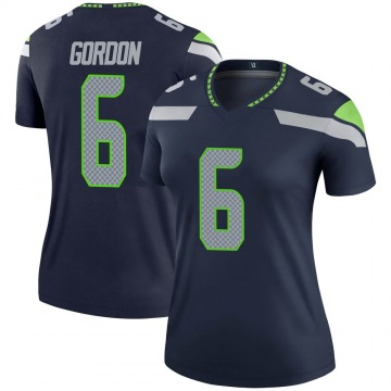 Women's Nike Seattle Seahawks Anthony Gordon Navy Jersey - Legend