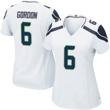 Women's Nike Seattle Seahawks Anthony Gordon White Jersey - Game