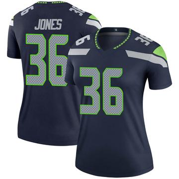 Women's Nike Seattle Seahawks Anthony Jones Navy Jersey - Legend