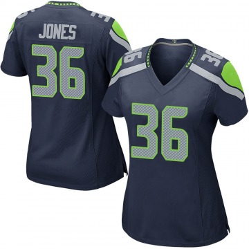 Women's Nike Seattle Seahawks Anthony Jones Navy Team Color Jersey - Game