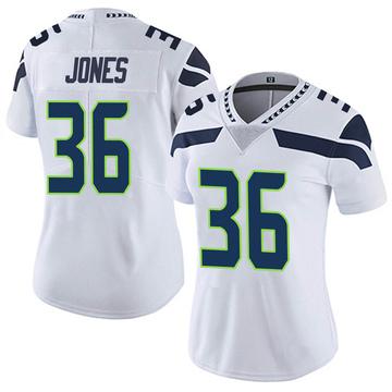 Women's Nike Seattle Seahawks Anthony Jones White Vapor Untouchable Jersey - Limited