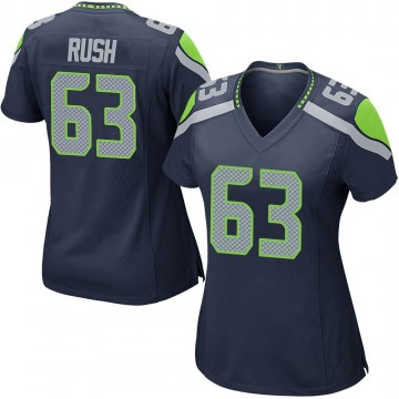 Women's Nike Seattle Seahawks Anthony Rush Navy Team Color Jersey - Game