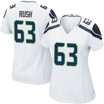Women's Nike Seattle Seahawks Anthony Rush White Jersey - Game