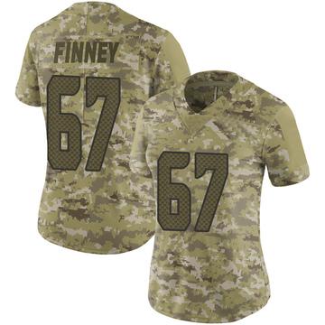 Women's Nike Seattle Seahawks B.J. Finney Camo 2018 Salute to Service Jersey - Limited