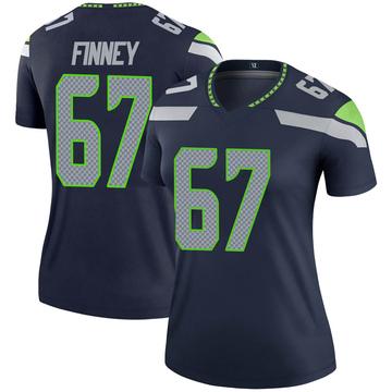 Women's Nike Seattle Seahawks B.J. Finney Navy Jersey - Legend