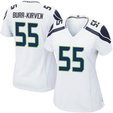 Women's Nike Seattle Seahawks Ben Burr-Kirven White Jersey - Game