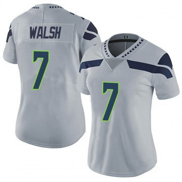 Women's Nike Seattle Seahawks Blair Walsh Gray Alternate Vapor Untouchable Jersey - Limited