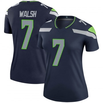 Women's Nike Seattle Seahawks Blair Walsh Navy Jersey - Legend