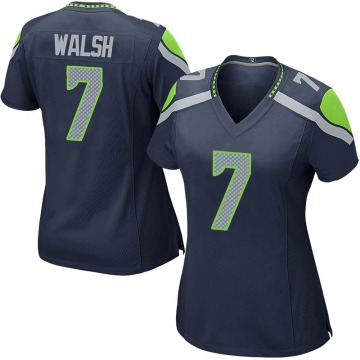Women's Nike Seattle Seahawks Blair Walsh Navy Team Color Jersey - Game
