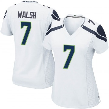 Women's Nike Seattle Seahawks Blair Walsh White Jersey - Game