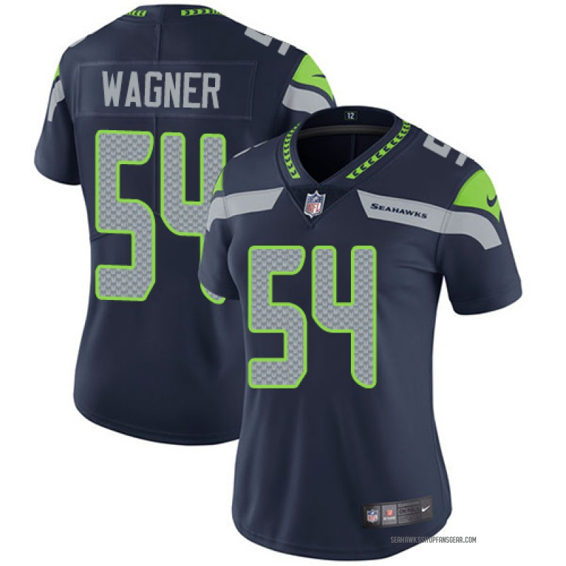 low priced e54d5 53790 Women's Nike Seattle Seahawks Bobby Wagner Blue Steel Team Color Jersey -  Limited