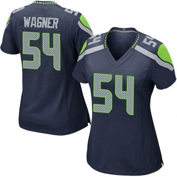Women's Nike Seattle Seahawks Bobby Wagner Navy Team Color Jersey - Game