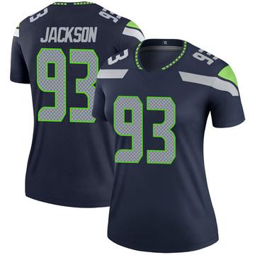 Women's Nike Seattle Seahawks Branden Jackson Navy Jersey - Legend