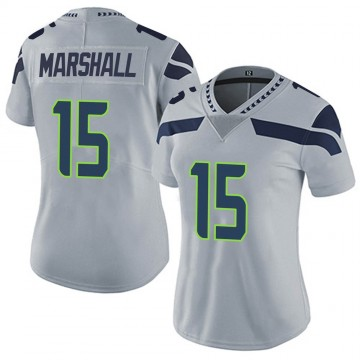 Women's Nike Seattle Seahawks Brandon Marshall Gray Alternate Vapor Untouchable Jersey - Limited