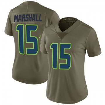 Women's Nike Seattle Seahawks Brandon Marshall Green 2017 Salute to Service Jersey - Limited