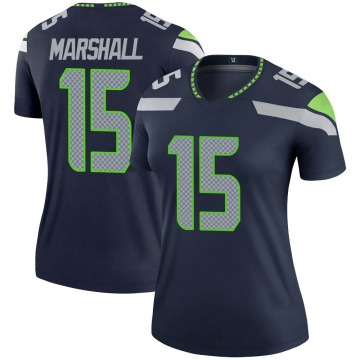 Women's Nike Seattle Seahawks Brandon Marshall Navy Jersey - Legend