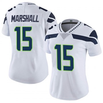 Women's Nike Seattle Seahawks Brandon Marshall White Vapor Untouchable Jersey - Limited