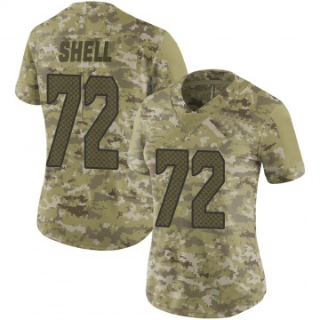 Women's Nike Seattle Seahawks Brandon Shell Camo 2018 Salute to Service Jersey - Limited