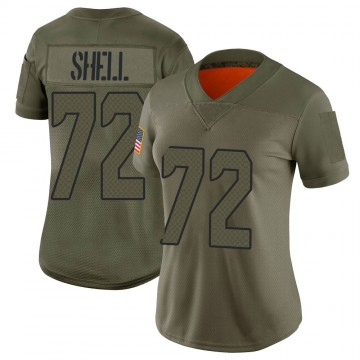 Women's Nike Seattle Seahawks Brandon Shell Camo 2019 Salute to Service Jersey - Limited