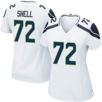 Women's Nike Seattle Seahawks Brandon Shell White Jersey - Game